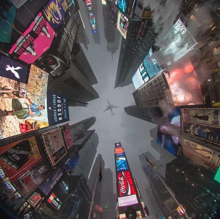 Незабравима гледка отдолу, Таймс Скуеър, Ню Йорк, САЩ