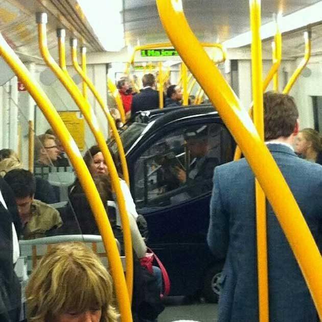 За някои хора метрото е и подземен паркинг