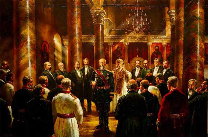 Независимостта на България е офисицално призната от Великите сили и Османската империя през април 1909 г.