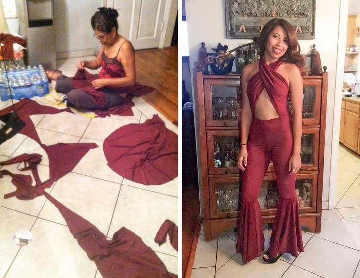 Тази майка прекарва дни и нощи, докато ушие костюма за Хелоуин на дъщеря си
