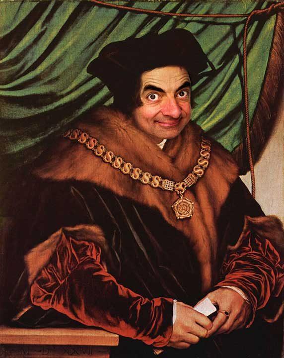 Лицето на Мистър Бийн в исторически портрети е най-забавното нещо, което ще видиш днес