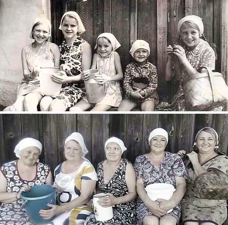 Весели приятелки 45 години по-късно
