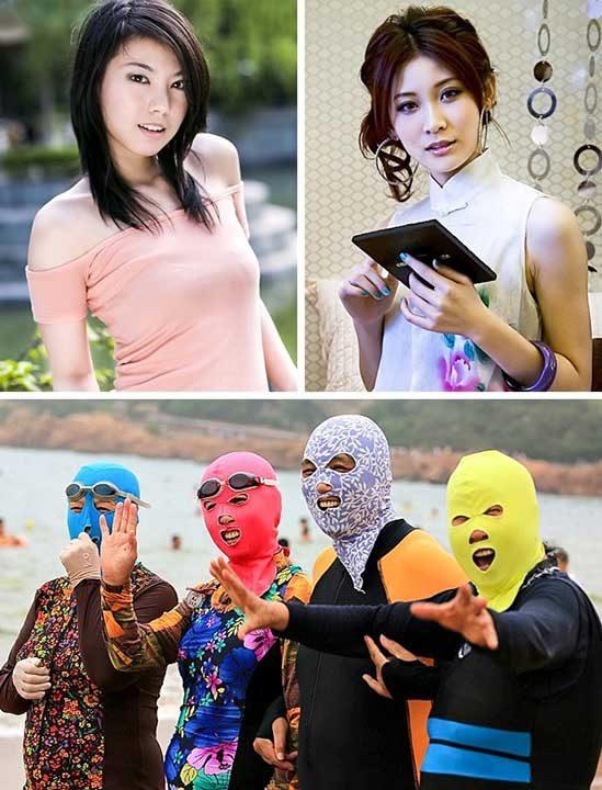 Бледа кожа, Китай и Тайланд