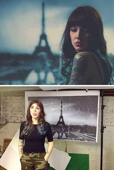 Снимка за фон, малко Photoshop и готово - вече си в Париж!