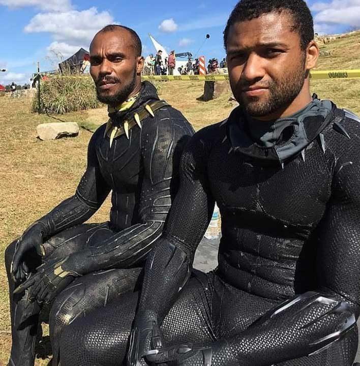 Това са каскадьорите, отговорни за екшън сцените между Черната пантера и Килмонгър - Халид Гаджи и Даниел Греъм