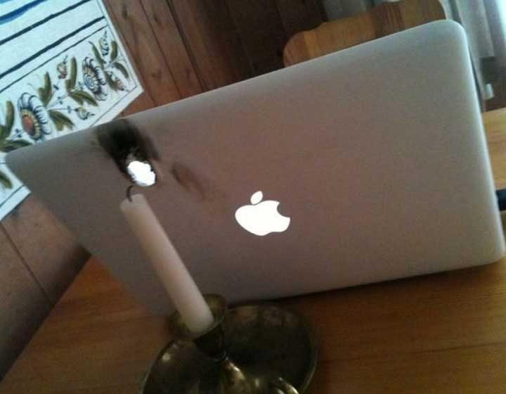 Малко романтика и един лаптоп по-малко