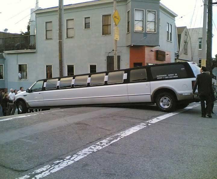 И хората с лимузини допускат грешки