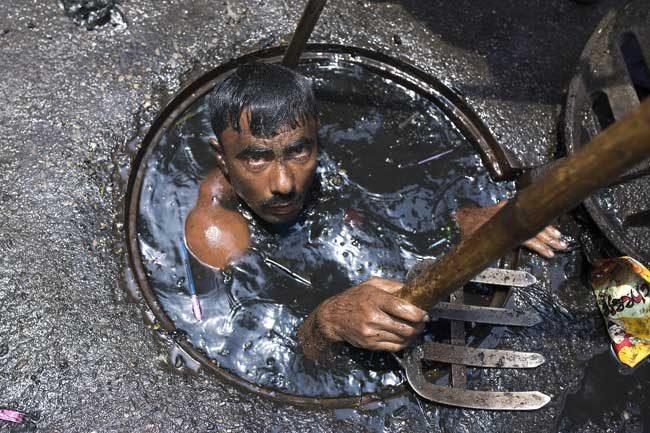 Почистване на канали, Индия