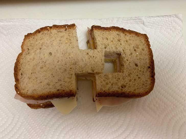 """""""Дъщеря ми мрази, когато сандвичът ѝ не е разрязан на две перфектни половини. Жена ми реши да вдигне нивото, за да я дразни"""""""