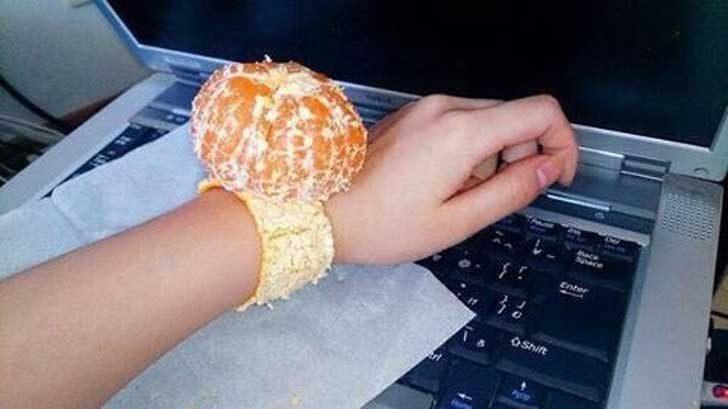 Часовник-мандарина - следващият моден тренд