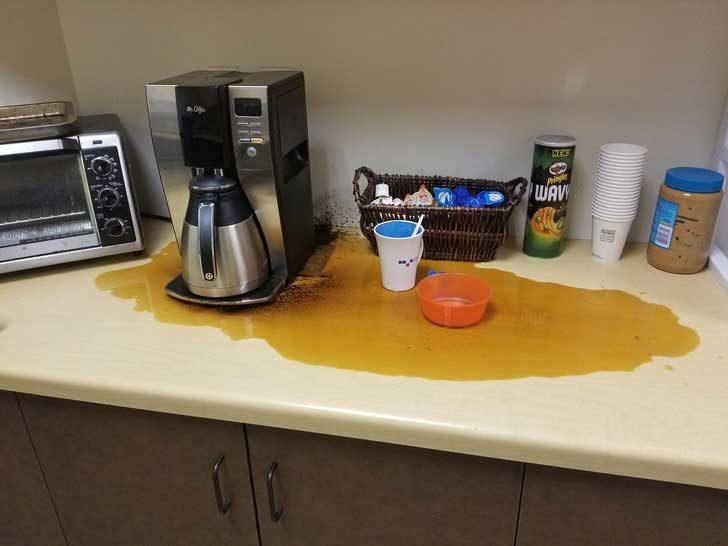 """""""Направих си кафе в офиса по-рано тази сутрин"""""""