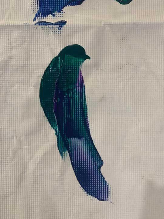 Тази птица е била нарисувана по чиста случайност, след като два пъти просто е била разлята боя