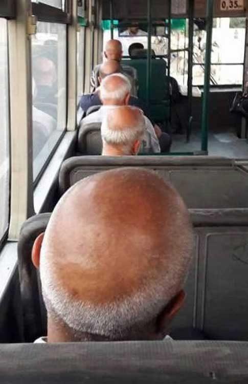 Дали и шофьорът на автобуса е плешив?...
