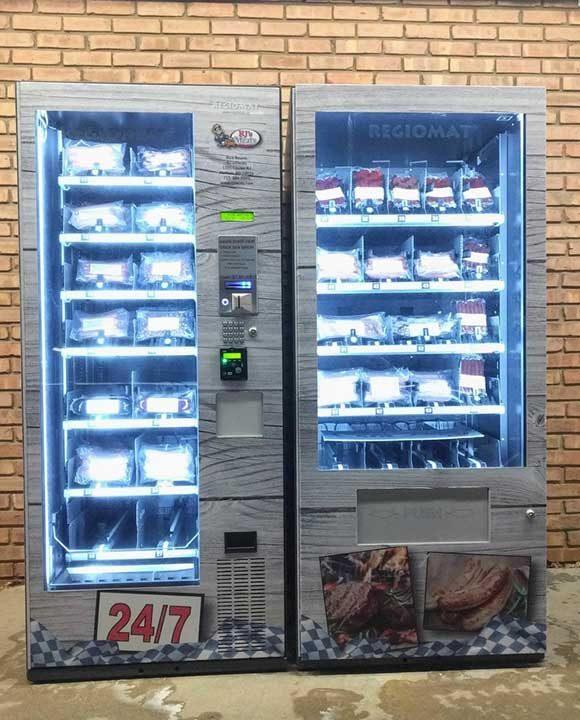 Този магазин за месо има вендинг машина отвън, с която можеш да пазаруваш дори и когато магазинът е затворен