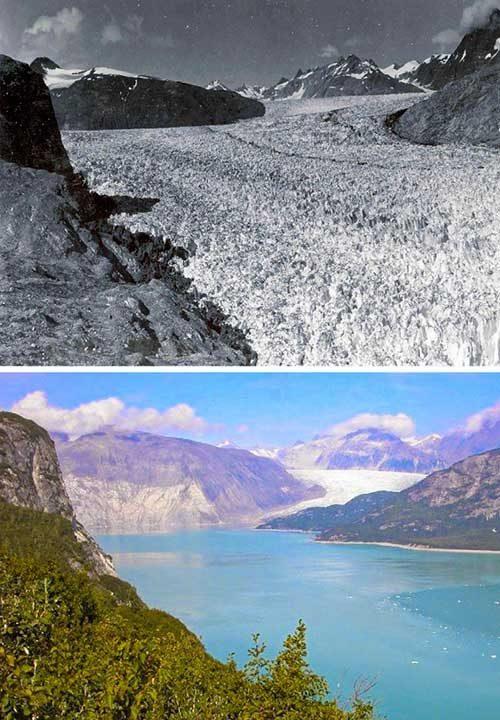 Целият този ледник се е превърнал в езеро