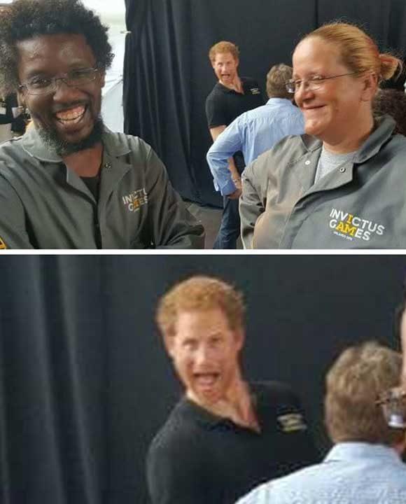 Да, точно така, това е принц Хари