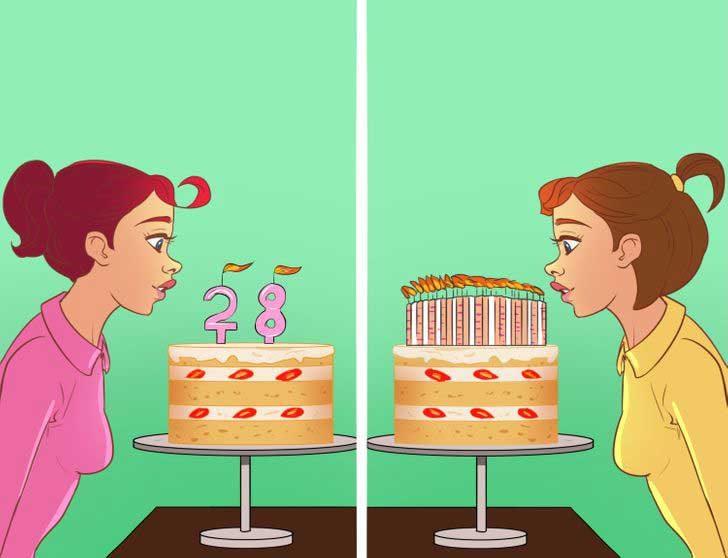 Хора, които украсяват тортите за рождените дни с много свещи и тези, които избират свещи, оформени като числа