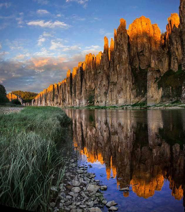 Златните скали на река Синяя