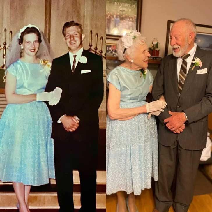 """""""Същите сватбени дрехи, 60 години по-късно"""""""