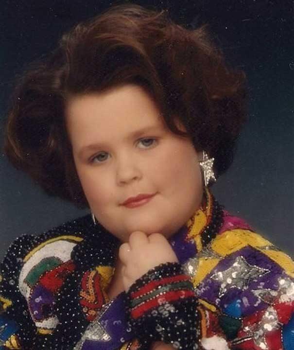 """""""Мама много искаше да ми направи тази зашеметяваща снимка през 90-те. Тук съм на 7 години"""""""