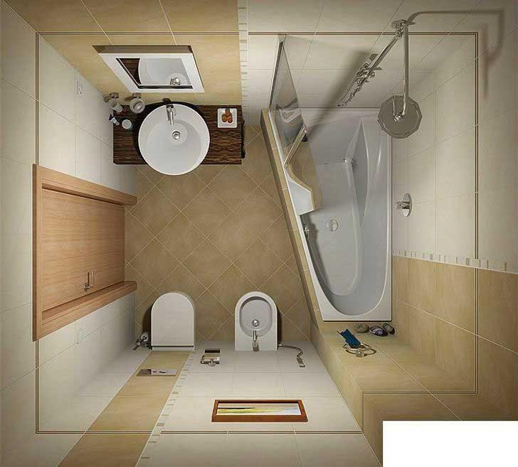 Триъгълна вместо квадратна вана може сериозно да помогне за спеставане на пространство в банята
