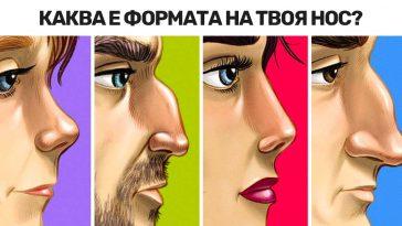 Какво казва формата на носа ти за твоя характер