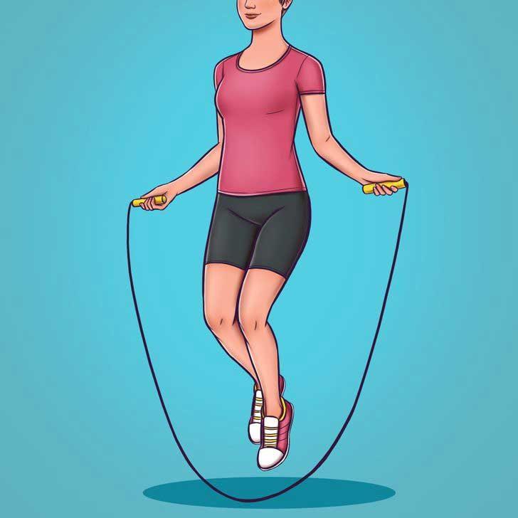 Скачане на въже