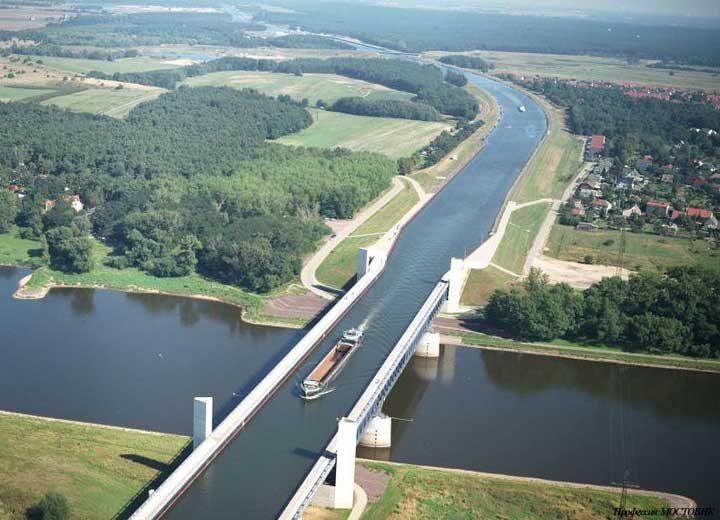 Водният мост в Магдебург, Германия