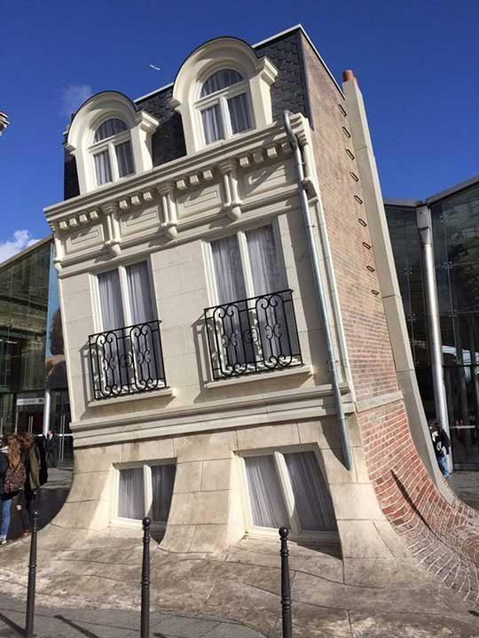 Тази къща в Париж изглежда все едно се разтапя. Всъщност тя е паметник