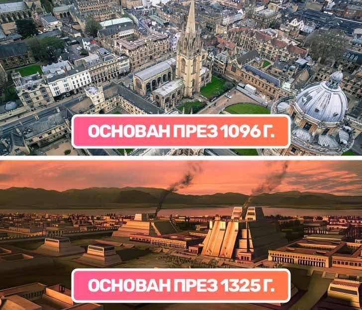 Университетът в Оксфорд е по-стар от Ацтекската империя