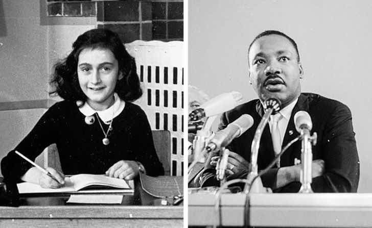Ане Франк и Мартин Лутър Кинг-младши са родени в една и съща година