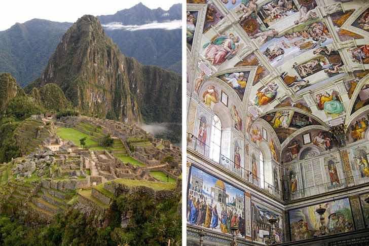 Мачу Пикчу и Сикстинската капела са построени по едно и също време