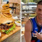 Мъж изяде 5-килограмов бургер и му остана място за десерт