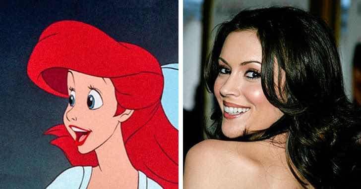 """Ариел от """"Малката русалка"""" е създадена по модел на актрисата Алиса Милано"""
