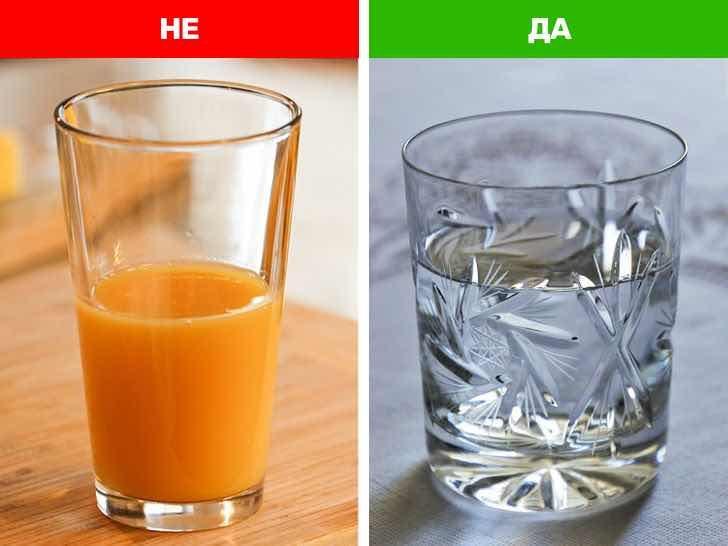 Пий вода вместо сок
