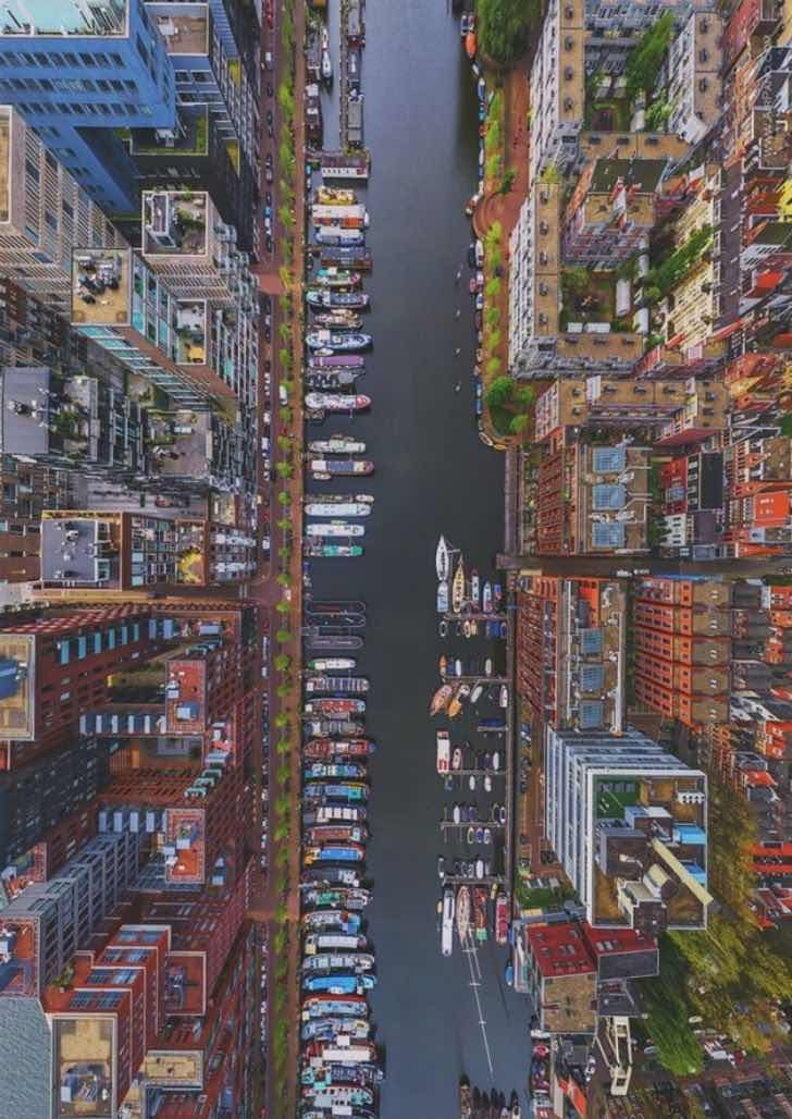 Амстердам от птичи поглед