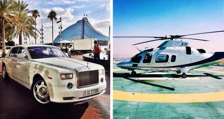 Трансферът до хотела се извършва или с кола, или с частен хеликоптер