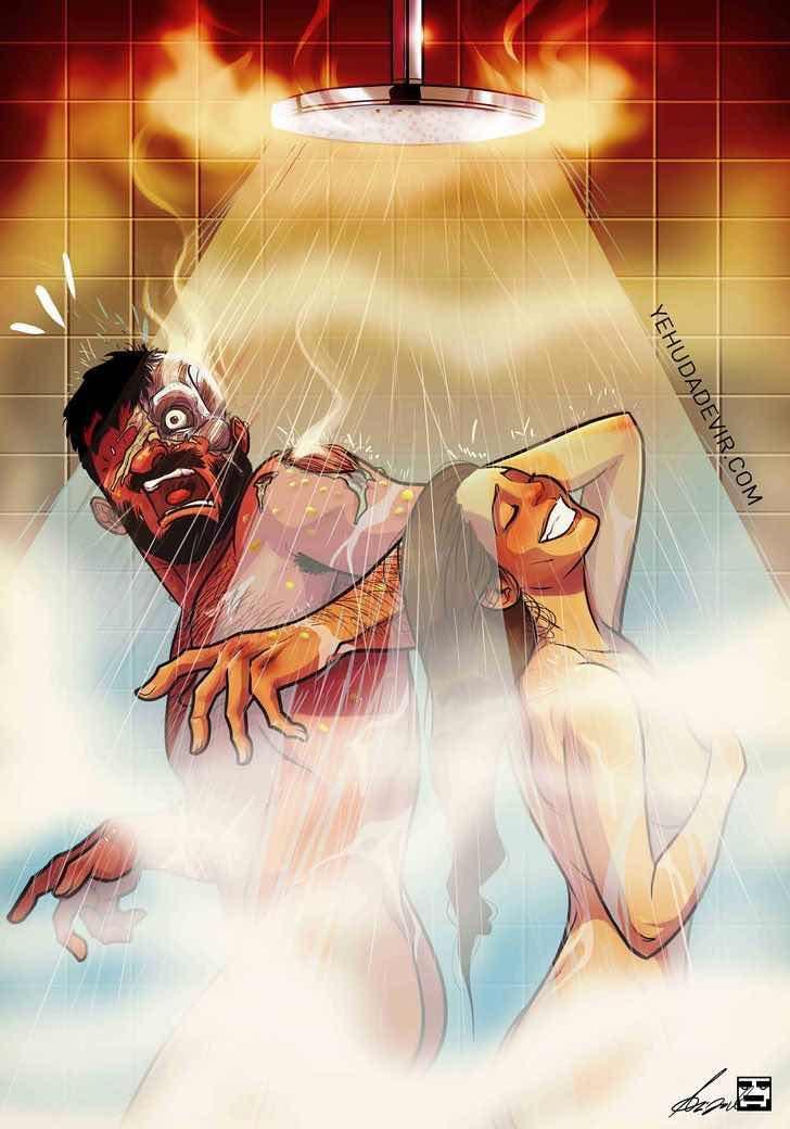 26 забавни илюстрации, описващи какво е да си женен